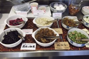 Part of the Japanese selection at the buffet