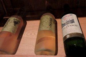 Bottles of wine in storage
