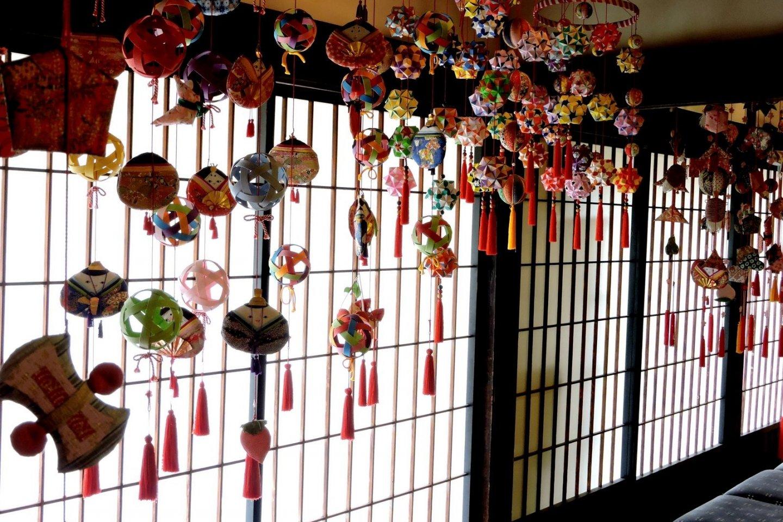 Colorful Hinamatsuri mobiles