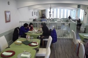 The restaurant floor