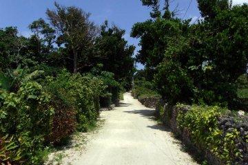 타케토미 마을의 전형적인 거리