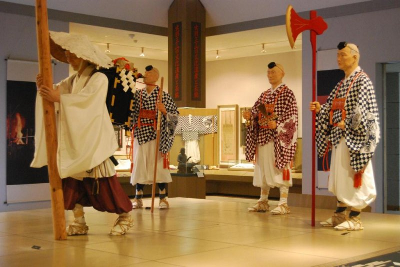 Display at the Ideha Cultural Museum. Here you can learn about the tradition of Haguro Shugendo.
