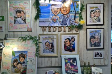<p>I think a caricature placed in a message frame is a fun idea for weddings&nbsp;</p>