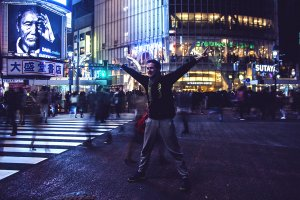 Second and last spot in Shibuya : Shibuya Crossing aka The Scramble