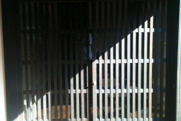 Entrance to the Hazama brewing facility