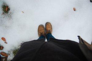 Pertama kali menginjakkan kaki di salju