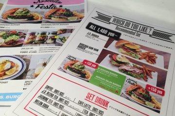 <p>Nice, bright menu&#39;s offering English translations</p>