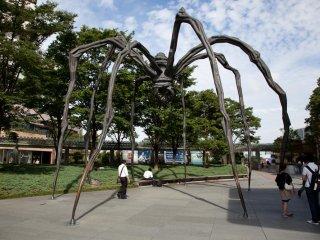 Современные произведения искусства установлены по всей территории