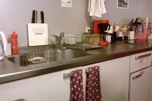 Dapur yang bersih serta lengkap