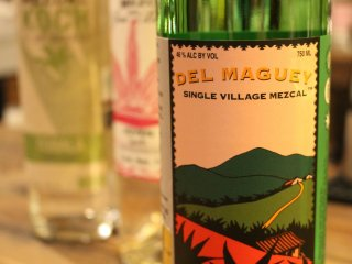 Del Maguey mezcal – alcoholic percentage is typically 45–50%