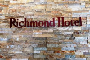 Entrance to theRichmond hotel in Akita