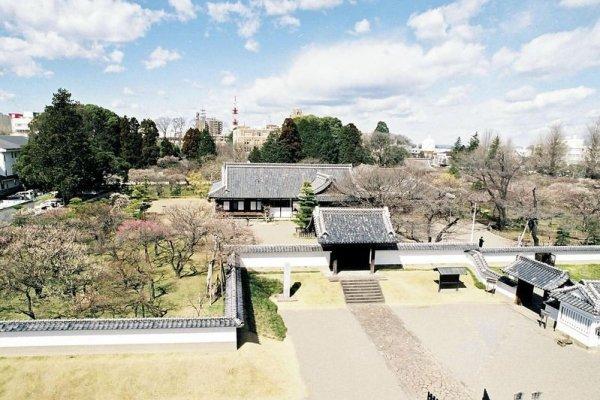 Kodakan, a escola do clã Mito para os domínios feudais no século XIX em Mito, um dos locais selecionados