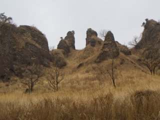 The crags from the road, just past Bonjour Provence, a French restaurant