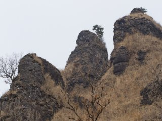 The crags up close