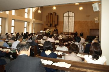 Sunday service at Kobe Central Church