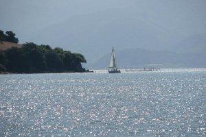 sailing off Ushimado town