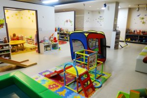 The on-site kids room is better than a theme park