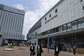 Front of Okayama station