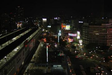 Night view of Okayama station