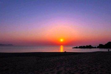 水晶浜のサンセット