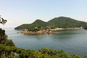 View of Benten Island from Taichiro Fukuzenji Temple