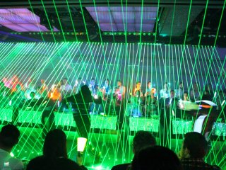 Light show begins and the dancers take the stage