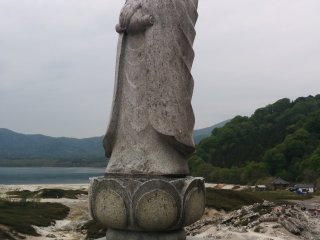 A Kannon (Godess of Mercy) statue is one of the few non-Jizo statues you'll find here