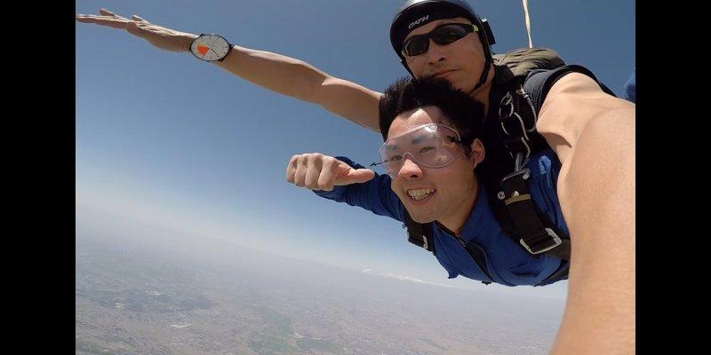 saut en parachute japon