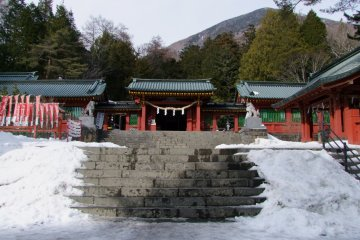 Futarasan Chugushi Shrine in Snow