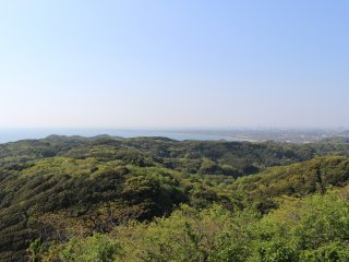View of Futtsu Cape and Tokyo Bay