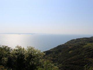 View of Kanagawa across the Uraga Channel
