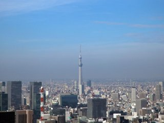 The second observation deck also gives a great view of the Tokyo Sky Tree.