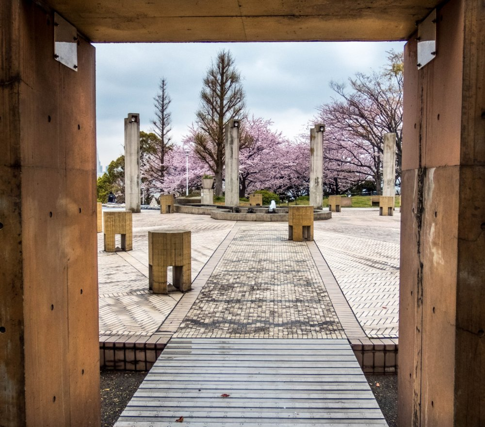A doorway to more cherry blossoms