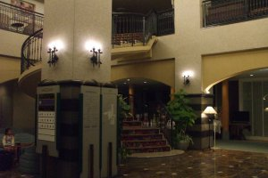 The interior of the lobby.