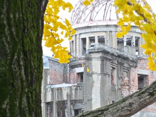 Close up on the dome:Hiroshima's Atomic Bomb Dome