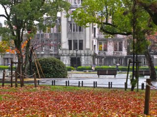 The dome is part of the larger Peace Park:Hiroshima's Atomic Bomb Dome
