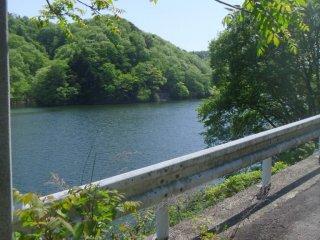 Возле озера есть парочка парковок; люди приезжают туда порыбачить