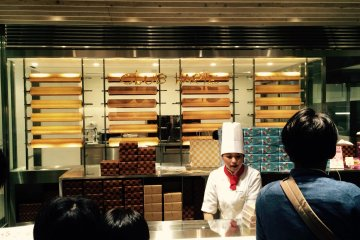 You can purchase freshly baked Baumkuchen.