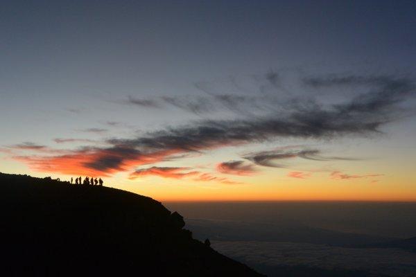 Pemandangan menakjubkan dari atas Gunung Fuji