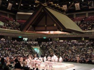 Inside Ryogoku Kokugikan sumo stadium