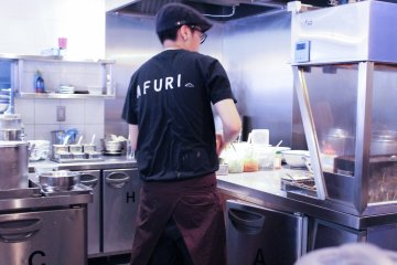 <p>Staff in the kitchen</p>