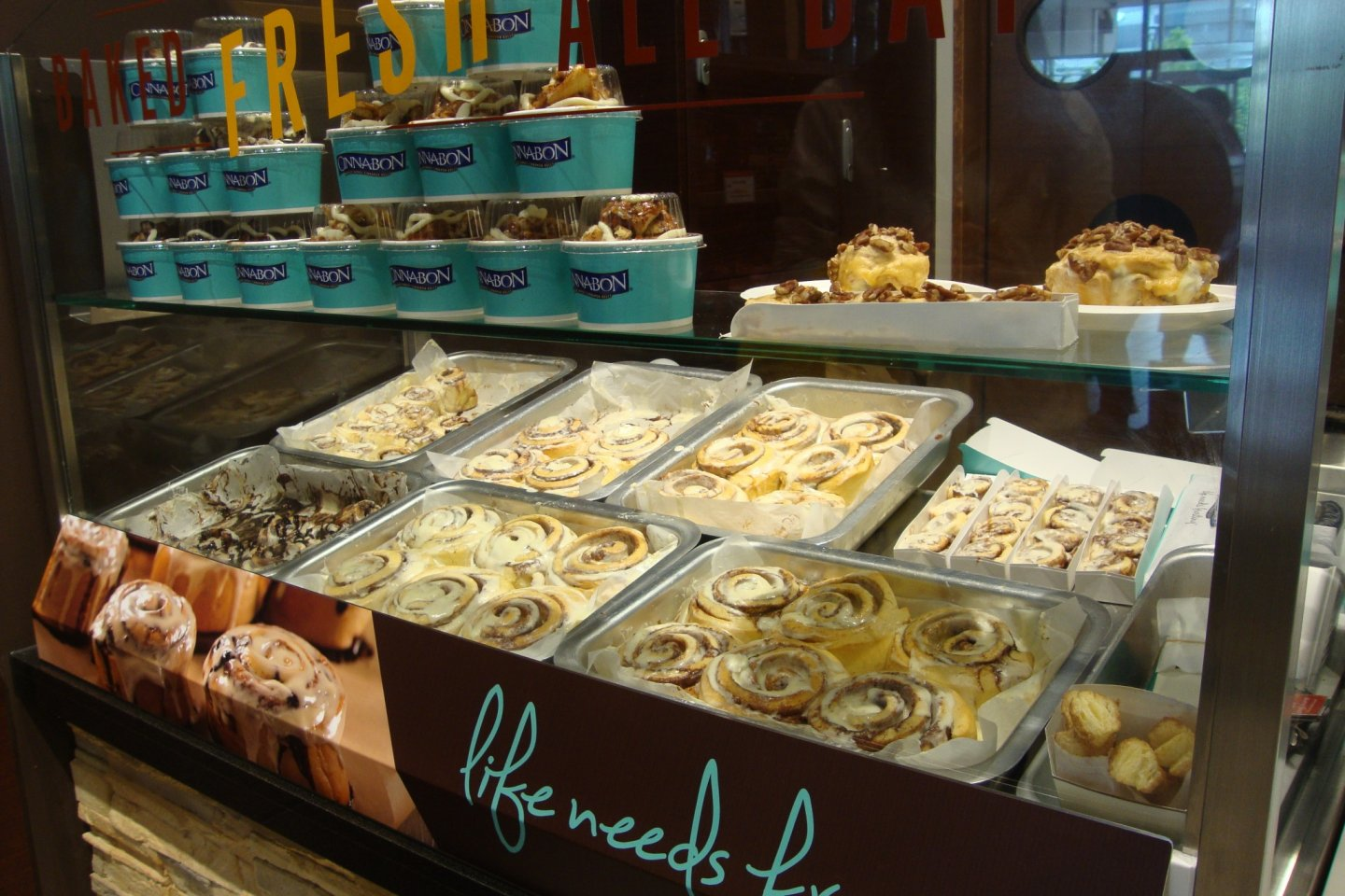 The variety of Cinnabon treats available for purchase