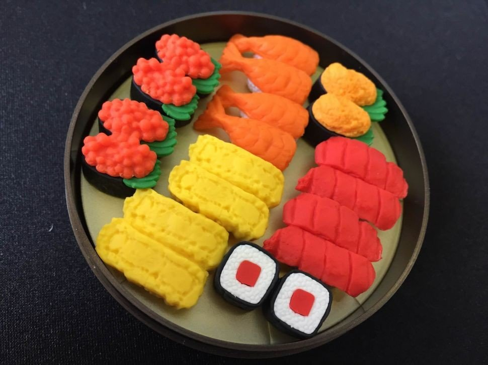 Miniature sushi set.