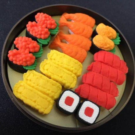 Play & Erase with Fun Sushi Erasers