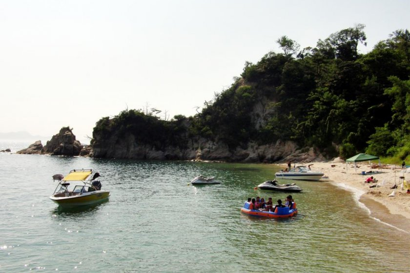 The secluded bay round the corner