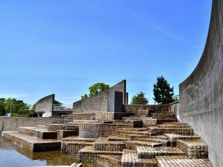 Kolam air mancur di museum