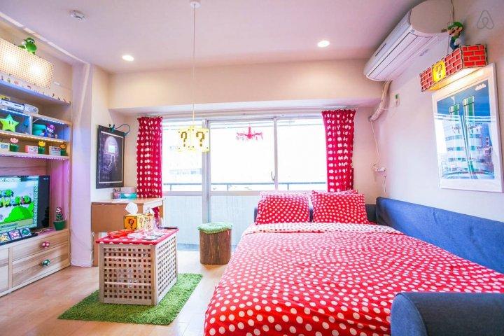 Apartemen bertema Mario di Tokyo