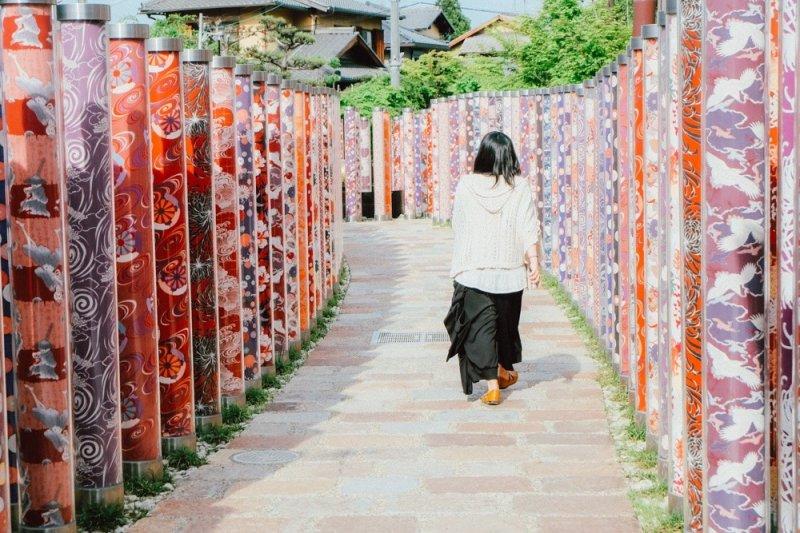 <p>The Kimono Lane of Randen, Arashiyama</p>