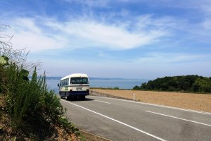 Take the mini bus to the art installations on Teshima.
