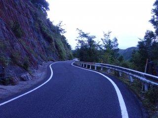 Une route totalement déserte...